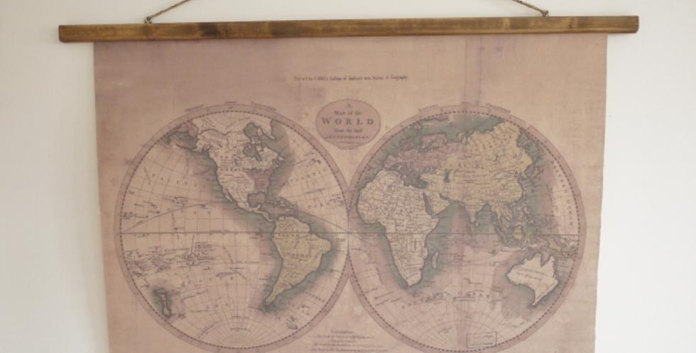 Hanging World Map