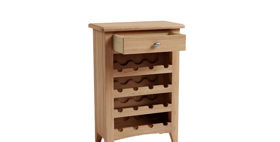 Geo Oak Wine Cabinet