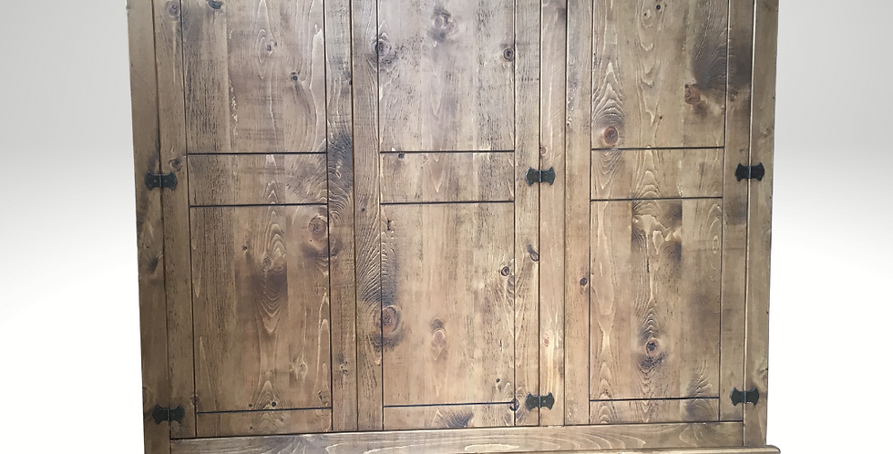 Plank Triple Wardrobe (6ft) with 2 Drawers
