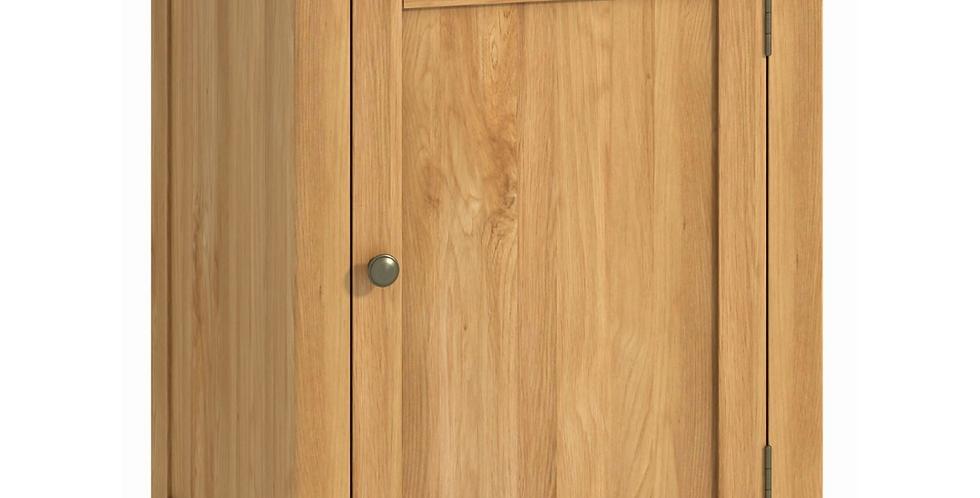 Portland office 1 door cabinet - oak