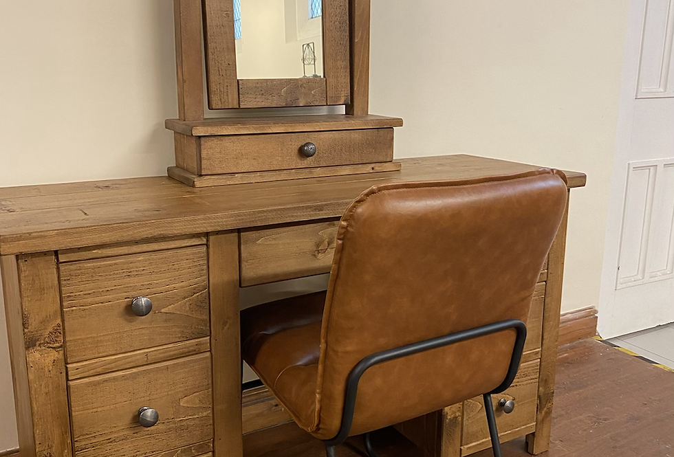 Plank Dressing Table (Double Ped)