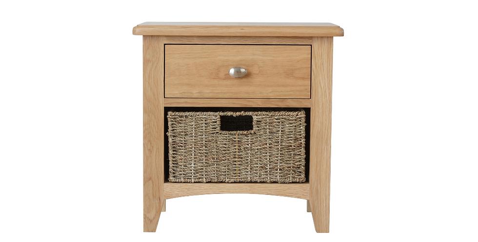 Geo Oak 1 Drawer/1 Basket Unit