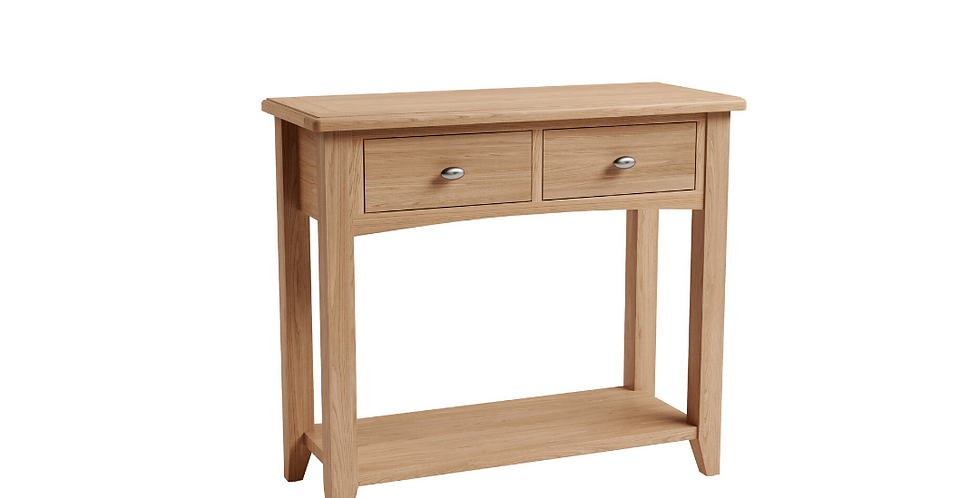 Geo Oak Console Table