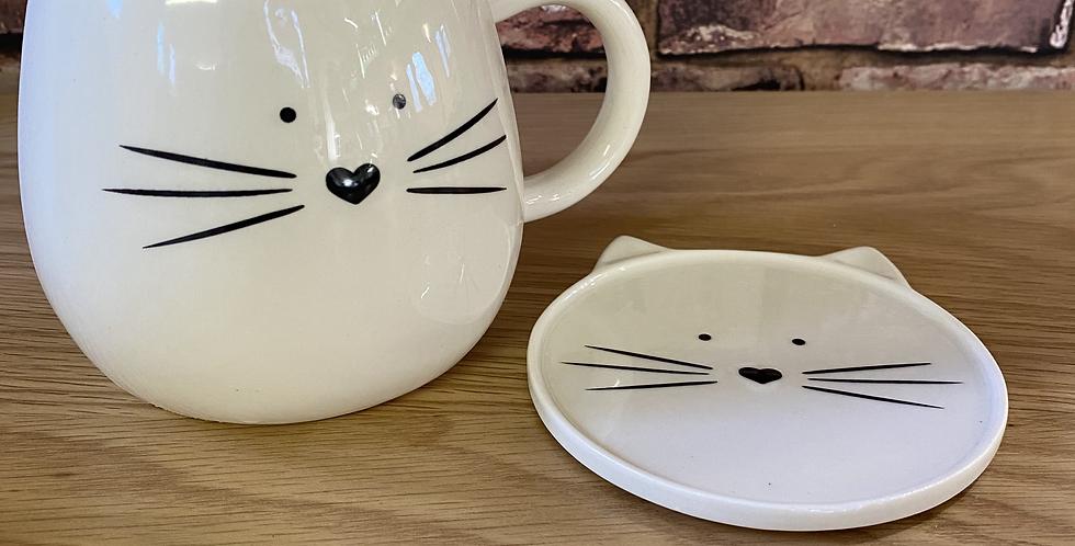 Cat Mug & Coaster