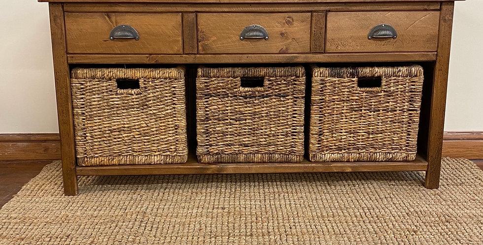 Plank 3 Drawer/3 Basket Unit (inc baskets)