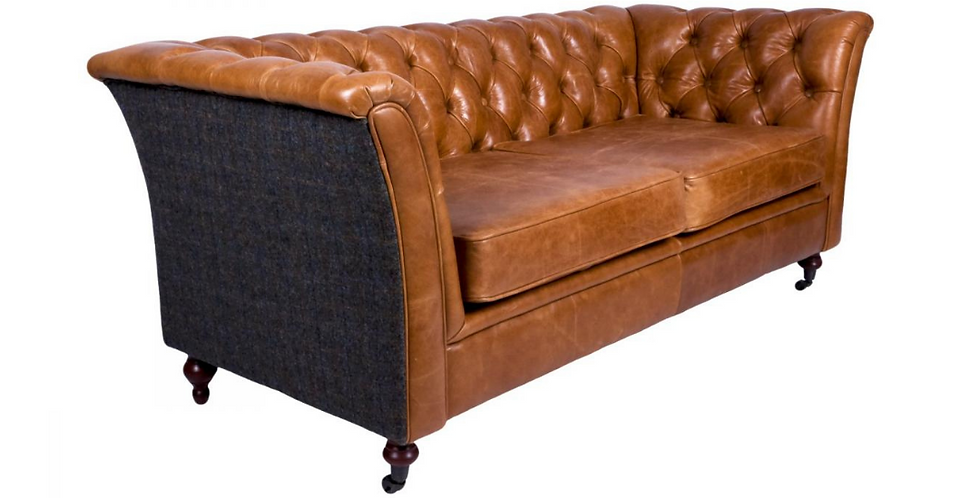 Brown Cerato  with Uist Night - 2 Seater Sofa