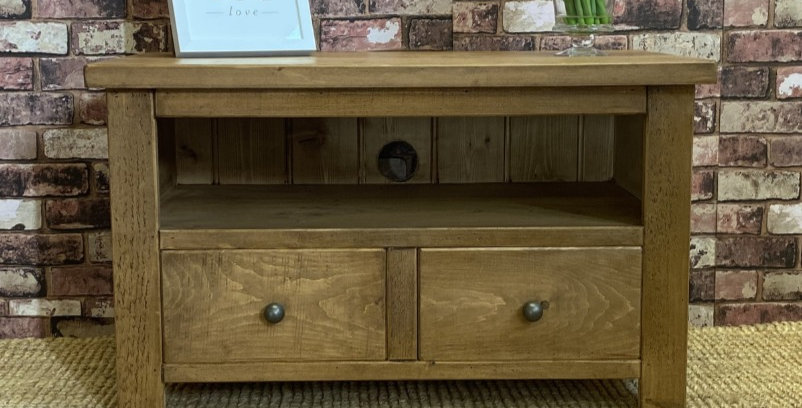 Plank 2 Drawer TV Unit
