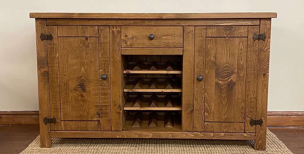 Plank Sideboard with Wine Rack