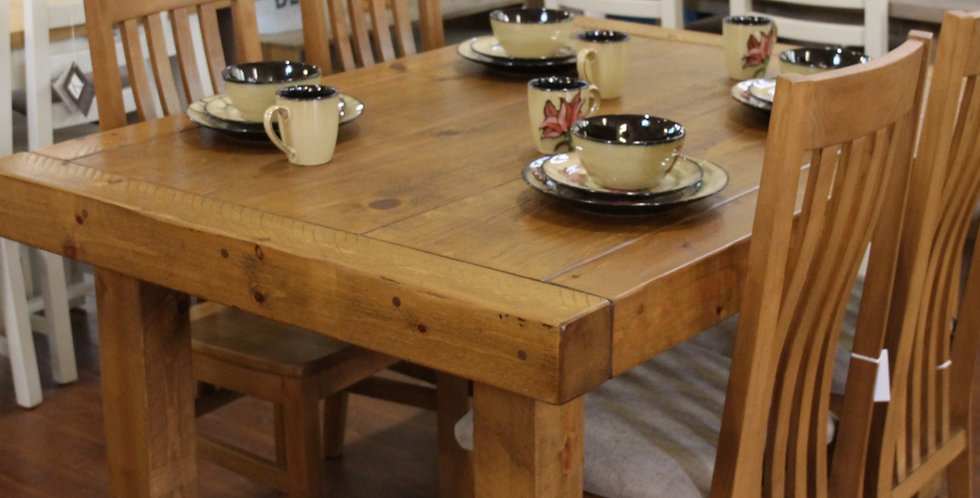 """Plank 4ft x 3ft 6"""" Butchers Table"""