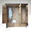 Thumbnail: Plank Triple Wardrobe (6ft) with 2 Drawers