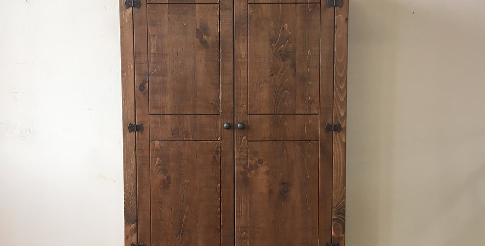 Plank Double Wardrobe with Drawers (4ft)