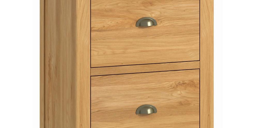 Portland office 2 drawer filing cabinet- oak