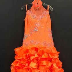 Latin Competition Dress- Orange