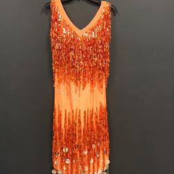 Tango Competition Dress - Orange