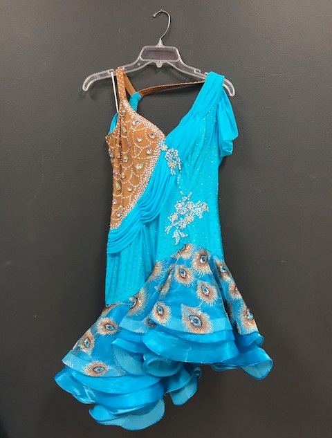 Latin Competition Dress - Blue