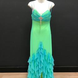 Ballroom Gown - Blue/Green
