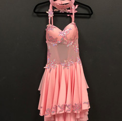 Latin Competition Dress - Pink