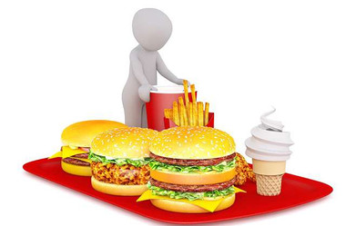 unhealthy food list: a photo of some junk food on a red tray