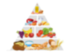 importance of food pyramid: a photo of a food pyramid
