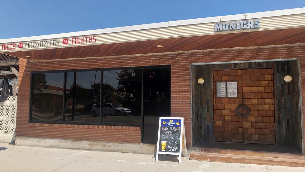 Monica's Tex Mex in the Cedars neighborhood of Dallas, Texas near the Southside on Lamar lofts