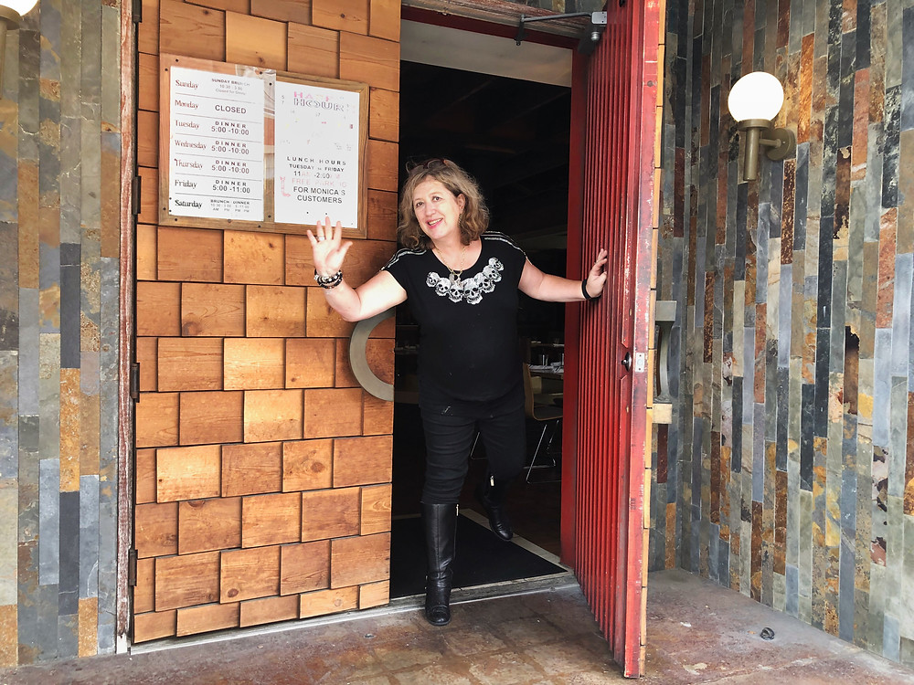 Monica Greene at the latest location of her restaurant, Monica's