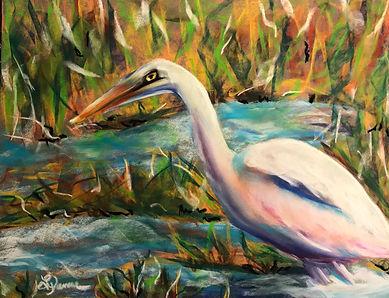 Wading Egret - Pastel -  Musselman.jpg