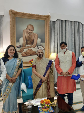 Award received by Mrs. Anuradha Gupta, Founder,Prithvi Innovations