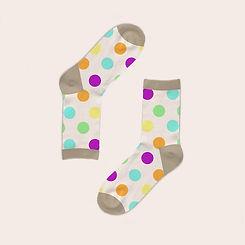 Weißen Socken mit Tupfen