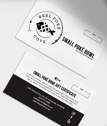 Small Poké Bowl Certificate