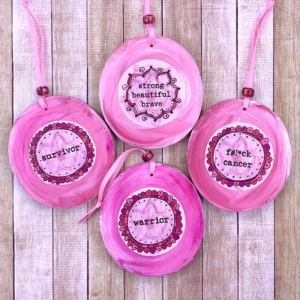 Pink, Breast Cancer Ornament, Warrior, Survivor