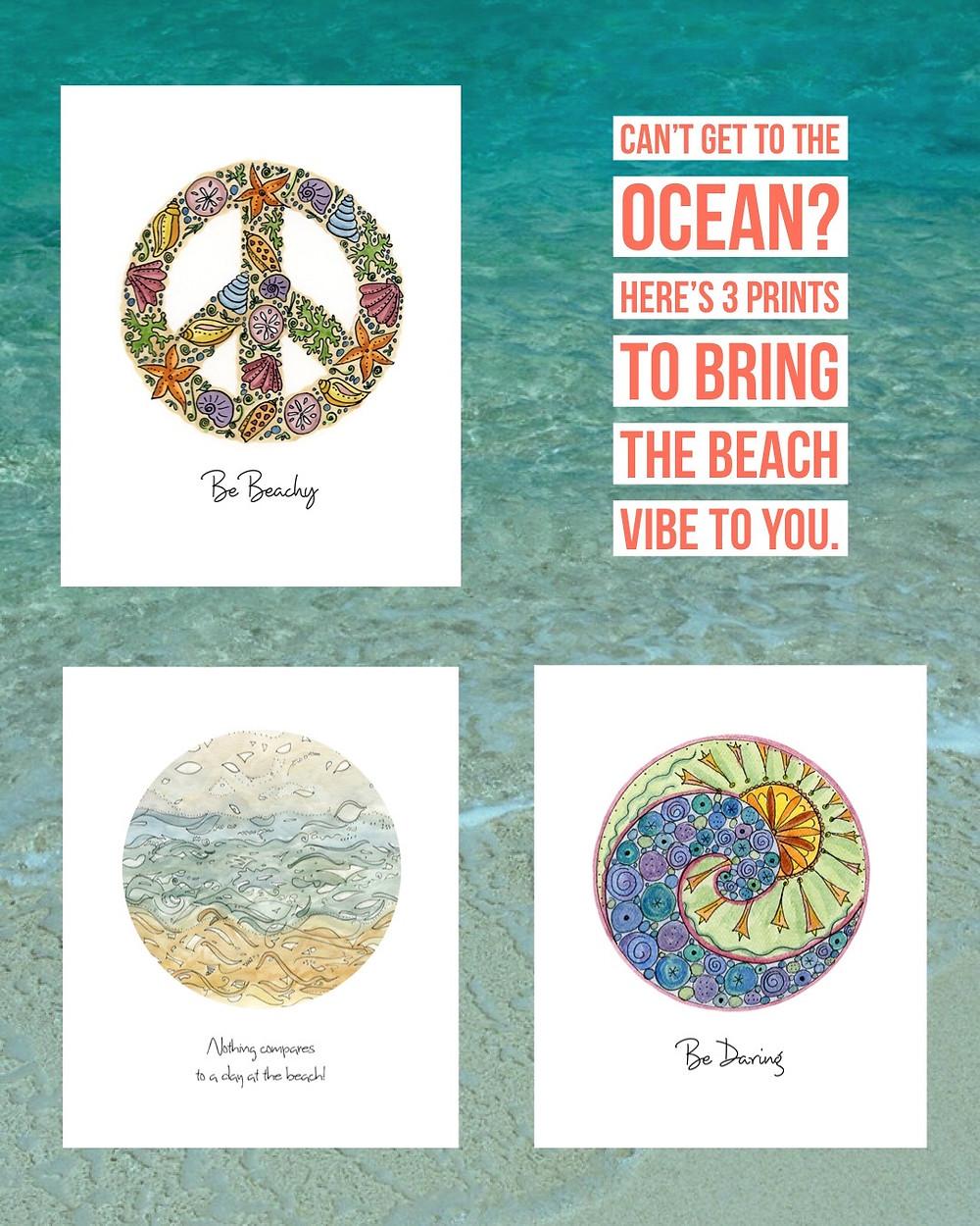3 Beach Vibe Prints