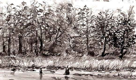 Paw Paw Marsh Sketch