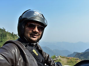 Riding on the Garhwal Mountains.JPG