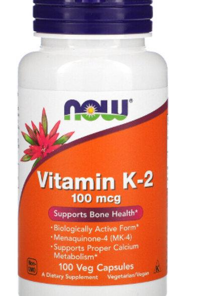 Vitamin K-2, 100 mcg, 100 Veg Capsules