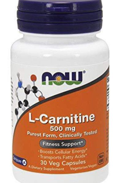 L-Carnitine, 500 mg, 30 Veg Capsules