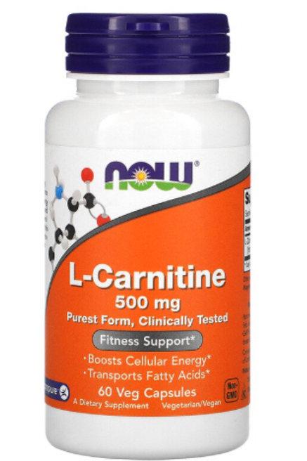 L-Carnitine, 500 mg, 60 Veg Capsules