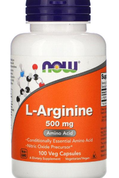 L-Arginine, 500 mg, 100 Veg Capsules