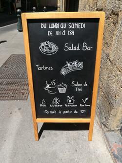Chevalet extérieur Pause & Gourmandises