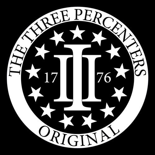 The Three Percenters Original Logo Stickers