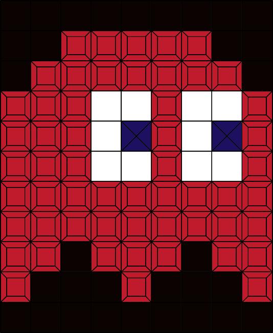 PacmanRedGhost (99 pcs.)