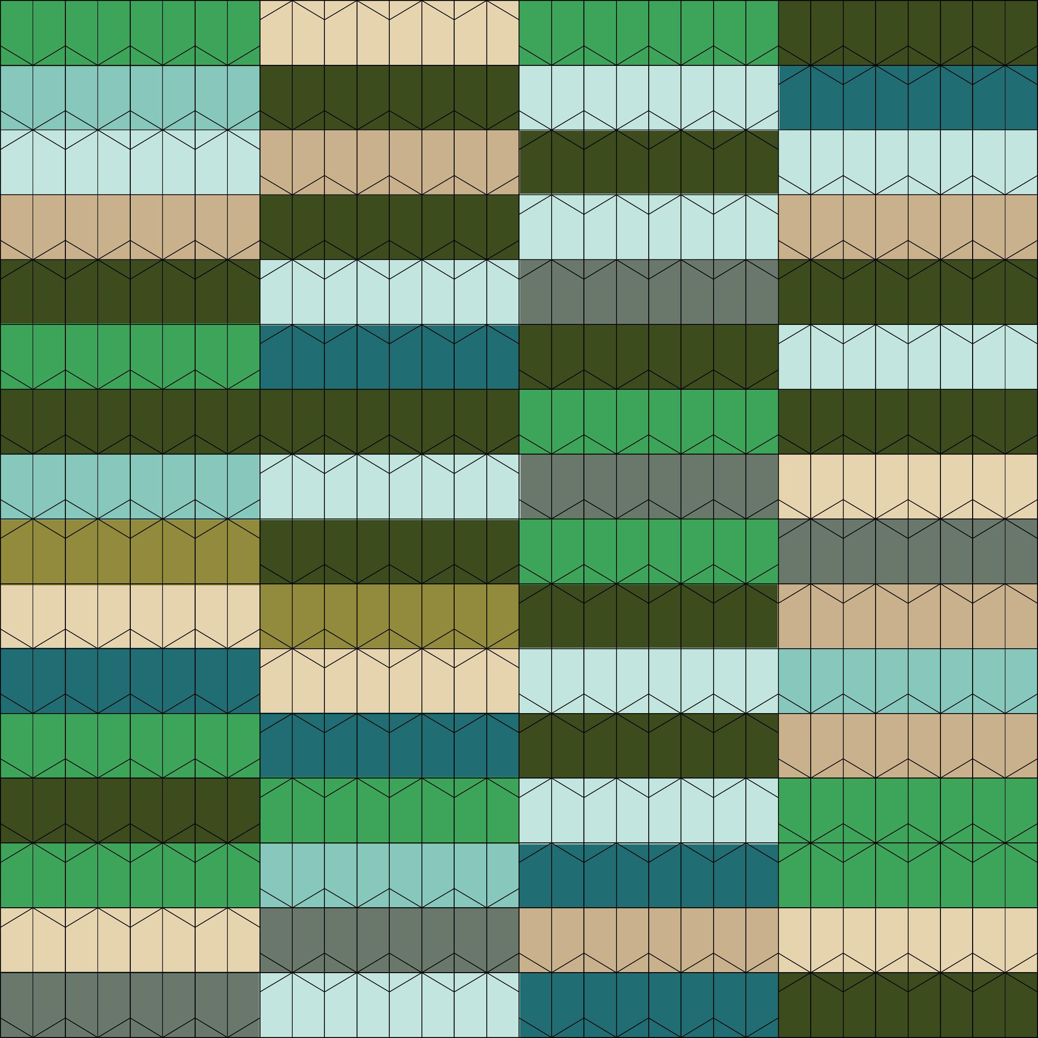 greenpattern(256pcs.)