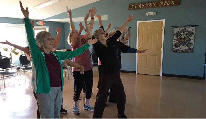 Bodies in Motion class, Horse Meadow Senior Center, North Haverhill, NH