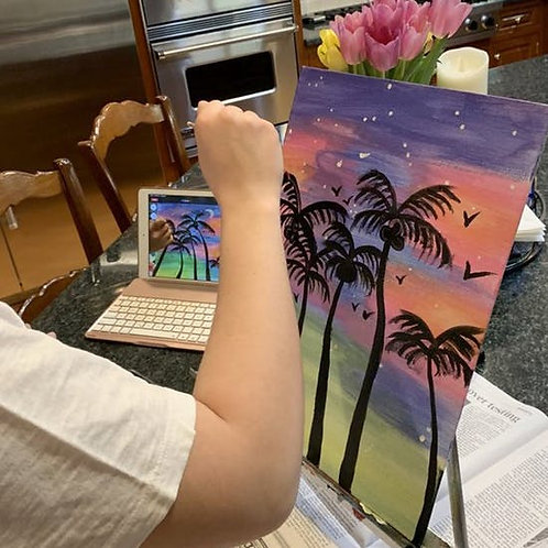Virtual painting session