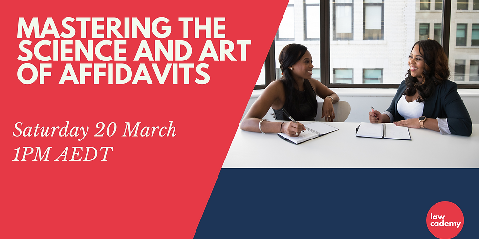 Mastering the Science and Art of Affidavits