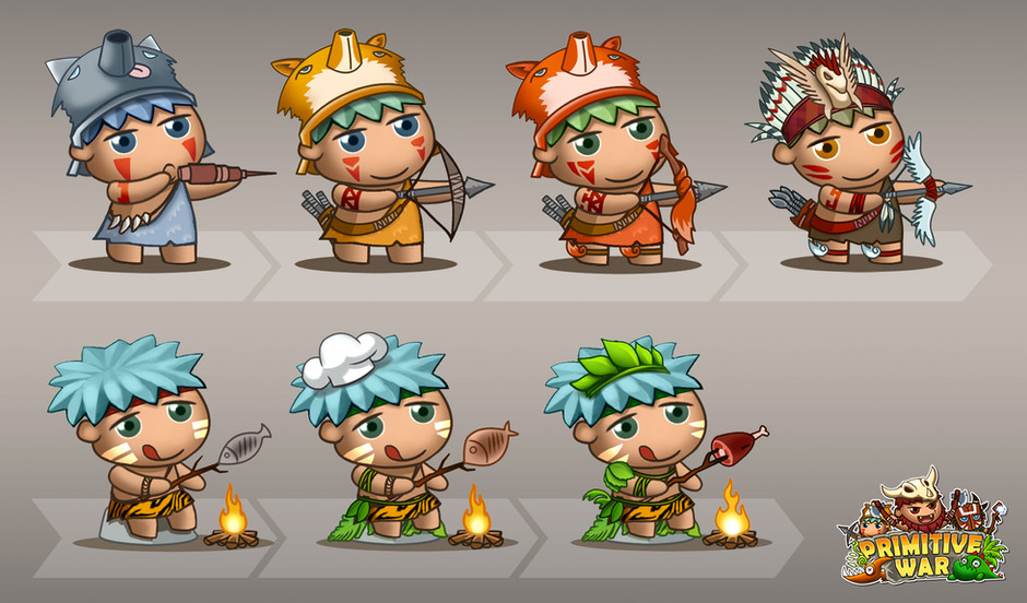 Primitive War_Character Design