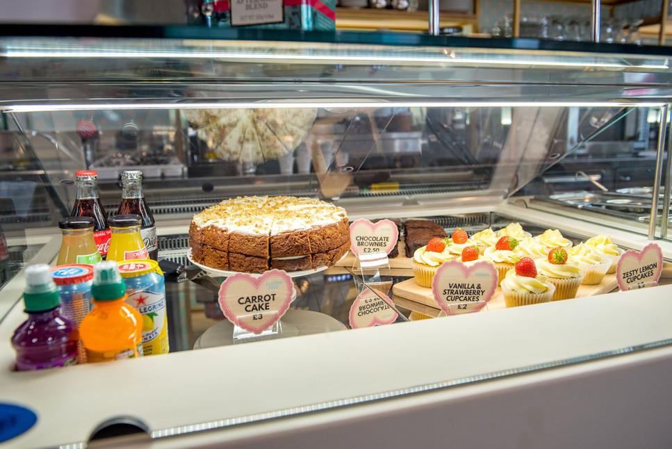 Pinks Parlour Bognor Regis Cake Cabinet.