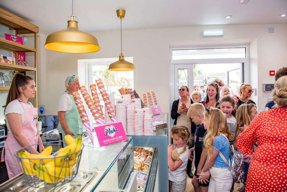Pinks Parlour Bognor Regis Opening Day Q