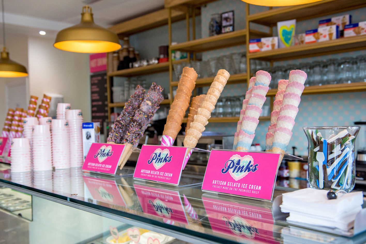 Pinks Parlour Bognor Regis Cone Display
