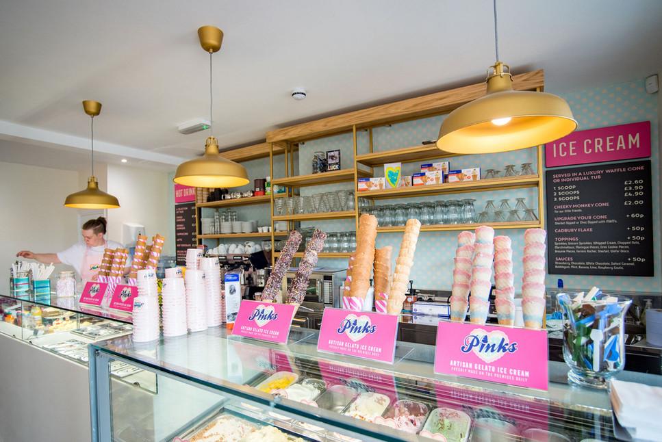 Pinks Parlour Bognor Regis Cone Display