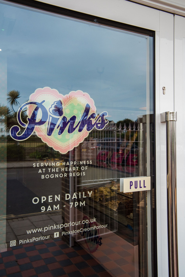 Pinks Parlour Bognor Regis Entrance Door